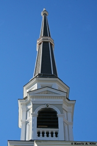 Newly restored church steeple